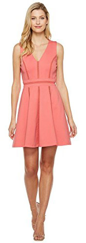 Adelyn Rae Womens Pauline Knit Ponte Fit and Flare