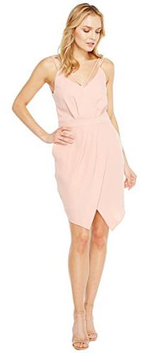 Adelyn Rae Womens Noemi V-Neck Sheath Dress