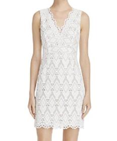 Aqua Women's Lace Overlay Sleeveless Bodycon Dress