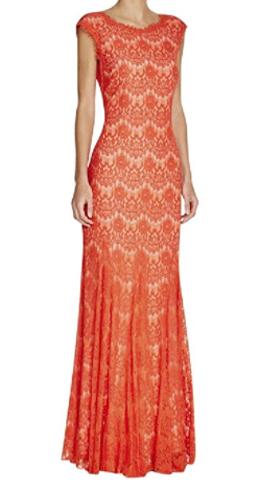 Aqua Womens Lace Sleeveless Evening Dress