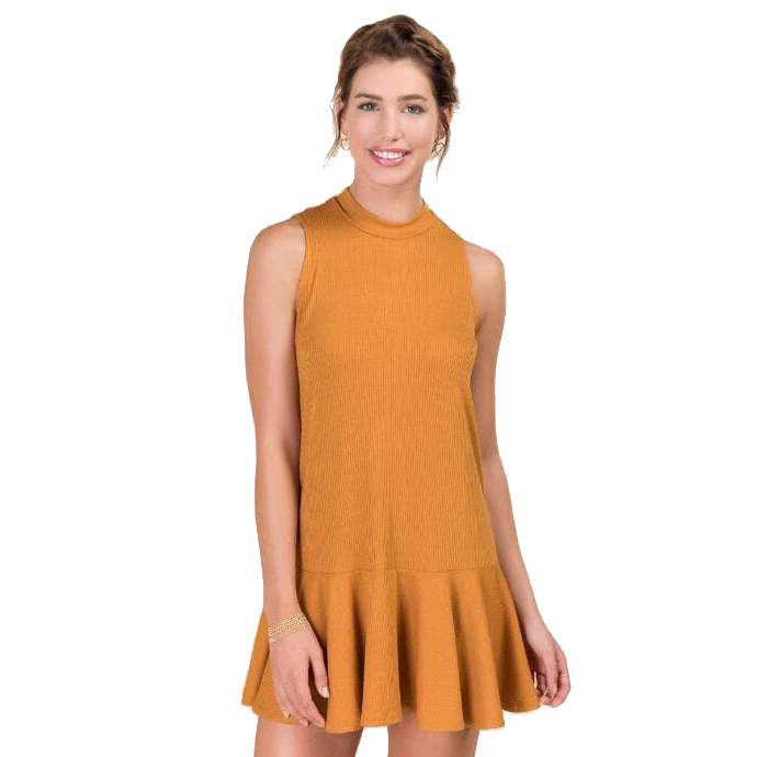 CAIRO RIBBED KNIT DRESS