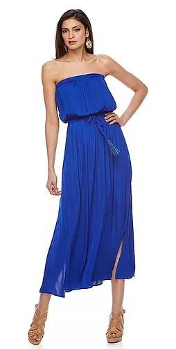 Women's Jennifer Lopez Strapless Blouson Maxi Dress