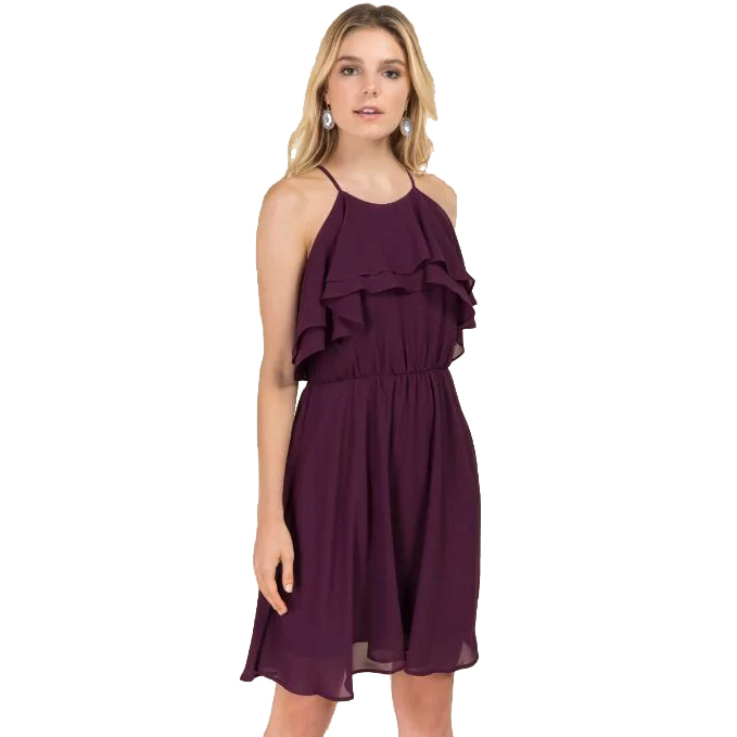 LANGLEY RUFFLE A-LINE DRESS