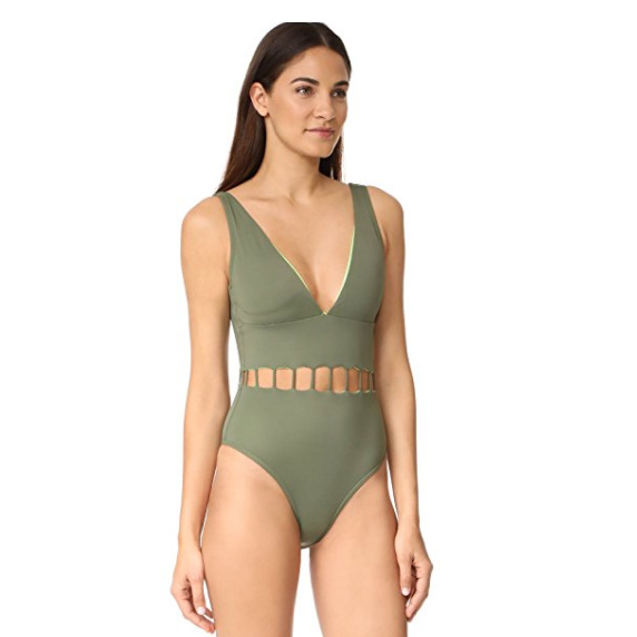 Peixoto Women's The Jade One Piece, Forest Green