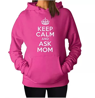 Keep Clam and Ask Mom Best Gift for Mothers Day Hoodie
