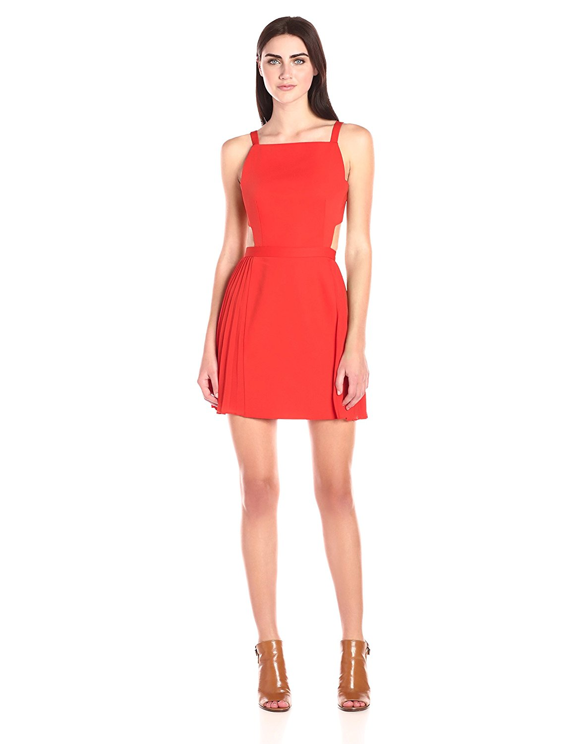 BCBGMax Azria Women's Brielle Sleeveless Dress with Side Pleats