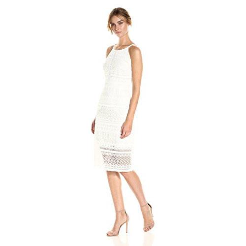 LAUNDRY BY SHELLI SEGAL Women's Fringe Venise Lace Dress
