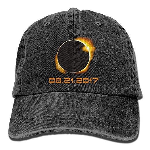 ONE-HEART HR Total Solar Eclipse 2017 Baseball Caps